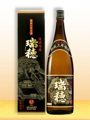 琉球泡盛 瑞穂 熟成三年古酒 43度 1800ml